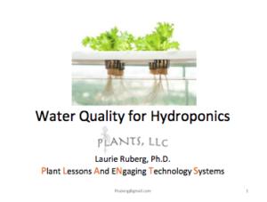 WaterQuality4Hydroponics